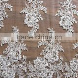 Rigid Beaded Motif Bridal Lace rendas francesas/swiss voile lace fabric/100% Polyester Fabric Lace Peony Embroidery Fashion Lace                                                                         Quality Choice