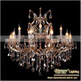 2013 Hotel Single Hanging Lighting, Amber Crystal Lighting Leds Lamp Chandelier Fixture MDS40-L10+5