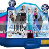 2015 Hot sale Frozen inflatable jumping castles with hook and loop fastener for kids