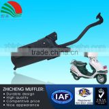 125CC Black Paint Muffler Scooter Flexible Exhaust Pipe