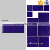 China floor tiles glossy purple blue wall tile, bevel ceramic tile, 100x200mm bathroom tiles foshan factory