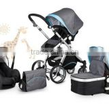Baby Stroller European standard High Quality And Comfortable 3 in 1 Fuctions Deluxe Reversing Handle Baby Stroller