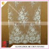 HC-6294-1 Hechun Simple Designs Crochet Sequin Beaded Stretch Bridal Lace Fabric