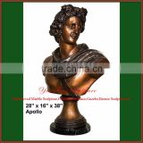 Cast Apollo Famous Bronze Bust Statue