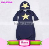 China lovely OEM service long sleeves toddler clothes baby one-piece gown print star pattern infant baby girl cute dress gowns