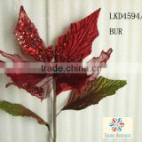 "Christmas Decoration Artificial Flower 28"" Artificial Poinsettia Spray"