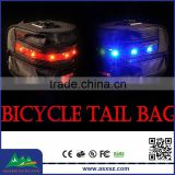 Motorcycle Bike Bicycle Cycling Saddle Seat Bag Black with LED Light