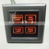 Hotel system,power saving, light switch, touch screen