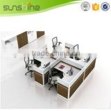 Hot Sale Office Workstation High Quality Glass Office Partitions 4 Office Cubicles With Economic Design