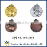 Professional 3d volleyball football basketball swimming Table Tennis gold silver bronze commemorative metal medal