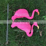 Sculptural Gardens Pink Flamingo Lawn Ornament Flamingo Figurine Plastic Party Grassland Garden Ornaments Decoration