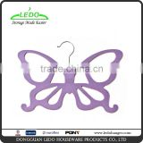 New Butterfly Velvet Scarf Hangers Slim Scarf Plastic Hangers Flocking Belt and Tie Hangers/.