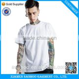 High Quality Plain White Cotton Bulk Mens T-Shirts Custom With Your Design And Logo Screen Printing