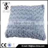 wholesale new design faux fur and Linen cushion cover , soft cushion pillow