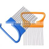 High quality Stainless Steel Onion Slicer/Onion Holder Vegetable Cutter Onion Slicer