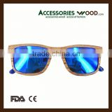 2016 China quality bamboo wooden sunglasses wholesale custom polarized fashionable sunglasses for man &woman