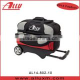 2014 Fashion bowling double bag with wheels