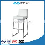 TB luxury home bar stools white bar chair stainless steel with pu leather