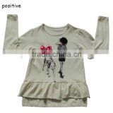 new brand print t-shirts girls long sleeve roupa infantil princess children cartoon clothing kids wear nova 02