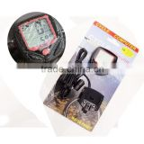 Wholesale Outdoor Cycling Bike Bicycle Cycle Computer LCD Odometer Speedometer Waterproof