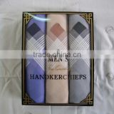 Men 100% cotton handkerchiefs with box packing wholesales