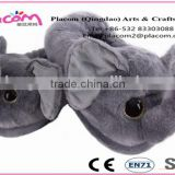Best sellingHigh quality Cute Fashion Warm Comfortable Customize Gifts Plush toy Slippers Elephant