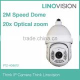 2MegaPixel Long IR distance100m Full HD 20x Outdoor Network IR PTZ Dome IP Surveillance Camera