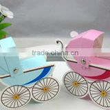 Baby Shower Favors Baby Carriage Pram Stroller Favor Boxes Bomboniere Box in Pink or Baby Blue