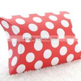Red Polka Dot Pillow Boxes Spots Dots Wedding Pillow Gift Boxes for Favours Xmas Party Box Baby Shower