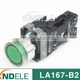 flat waterproof electrical push button switch with LED auto-lock,silver contact grade A LA167-B2-BZ
