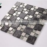 SMP20 Glass Mix Marble and Metal Mosaic Wedding Background Mosaic Decoration Indoor Mosaic