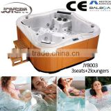 JOYSPA JY8003 model butterfly design Sex outdoor whirlpool bathtub with 2 loungers