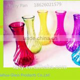 tall colorful glass vases for home decoration