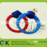 Custom silicone rubber id bracelet with chip from gold supplier