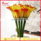 High Quality callas Flower Artificial silk flower3 colors callas flowers Real Touch fragrance PU Factory wholesale