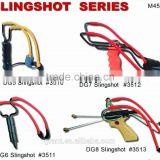 Hot Selling outdoor Handle Hunting slingshot Toy rubber sling shot Catapult 4pcs Pinball