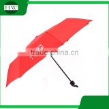 Single color 3 fold 190t fabric folding 21x8k Pongee polyester Material advertising umbrella