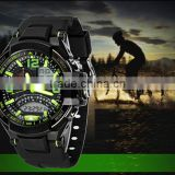 New Men's Fashion Multifunctional Military Digital & Analog Mens Sports Swimming Dive Watches 50M Waterproof