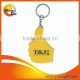 Thumbs up finger tape measure keychain