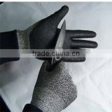 Tuffalene cut resistant fibre fabric gloves with foam nitrile coated;