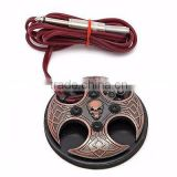 Tattoo Foot Switch Pedal Control Flat Stainless Steel 360 Skull Power Supply