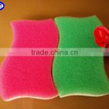 import export opportunities S Shape Colored Pattern Kitchen Scrub Sponge Pad