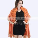 CX-B-P-68K Hot Winter Women's Thick Warm Fur Pashmina Cashmere Stole Scarves Shawl Wraps