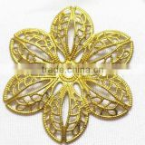 DIY hollow flower jewelry accessories brass flower shoe bag hair accessories garment accessories