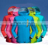 2017 Stock Children breathable outdoor sports long sleeve waterproof 3-in-1winter jackets