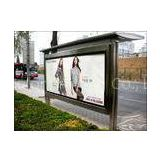 Outdoor Custom Photo Paper Backlit Film Bus stop Shelter billboard free Advertising