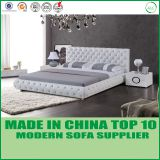 American style bedroom furniture tufted leather sleigh bed LB1103