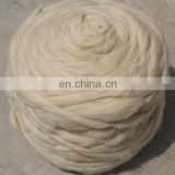 Combed and Worsted Sheep Wool Tops White 19.5mic/44mm