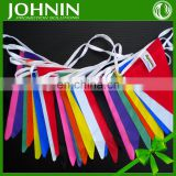 Sport Party Holiday Decoration Paper Polyester Fabric Pennant Banner