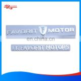 custom decorative 3D soft label and PCV 3D chrome sticker